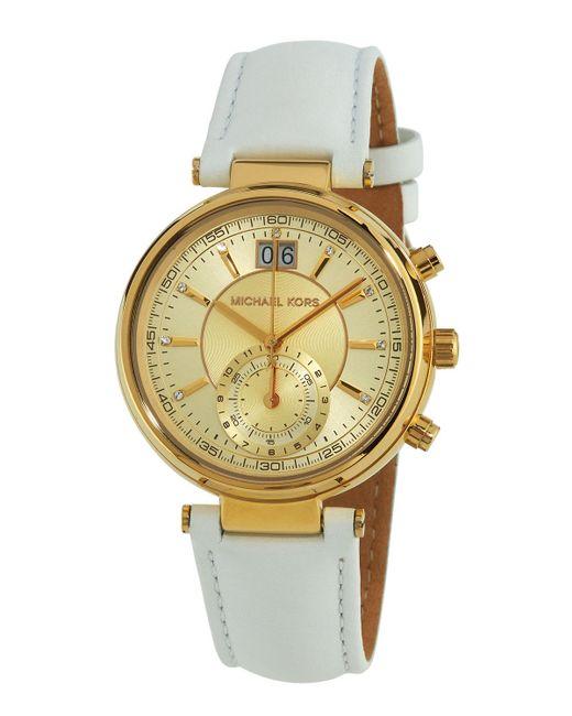 MICHAEL Michael Kors - Metallic 39mm Champagne Chronograph Watch - Lyst