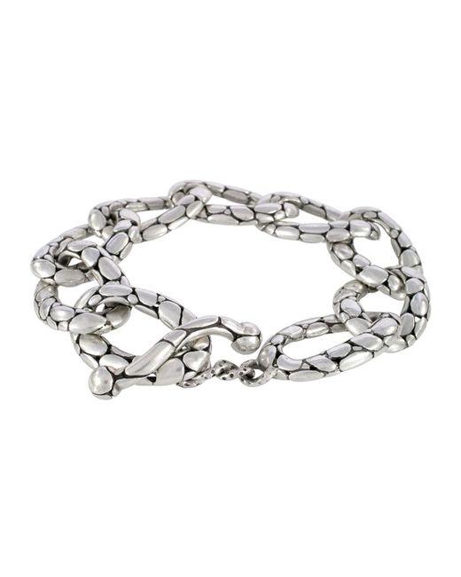 John Hardy   Metallic Kali Pebbled Flat Link Bracelet   Lyst