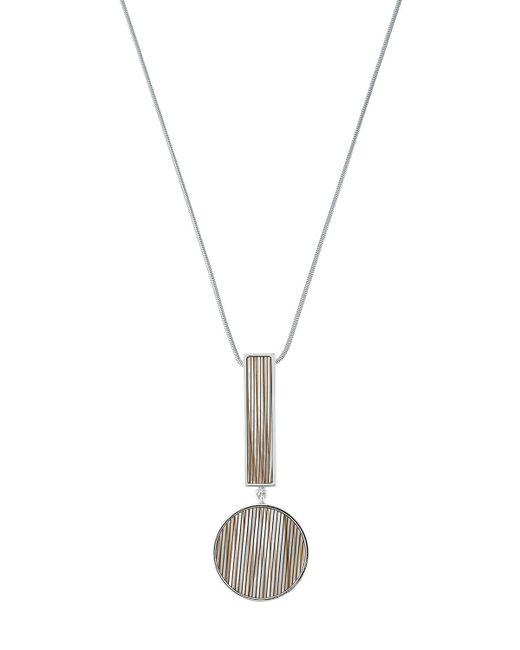 Lafayette 148 New York - Gray Geometric-drop Pendant Necklace - Lyst