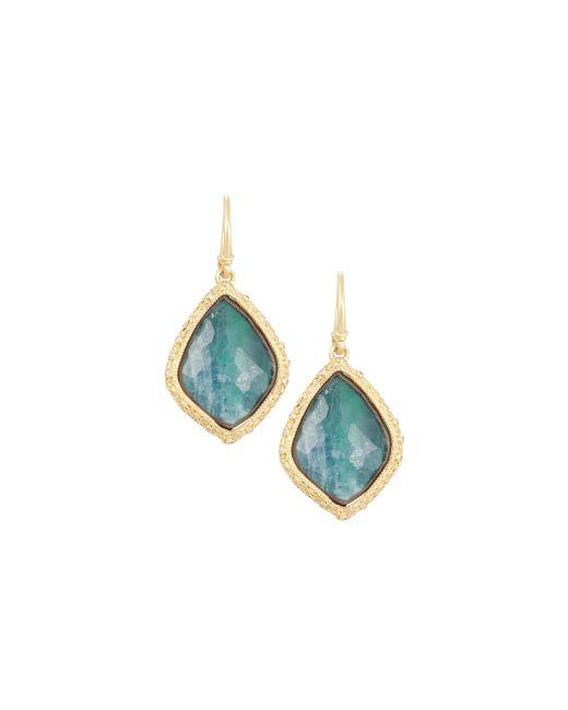 Armenta | Green Old World 18k Large Kite Doublet Drop Earrings W/ Diamonds | Lyst