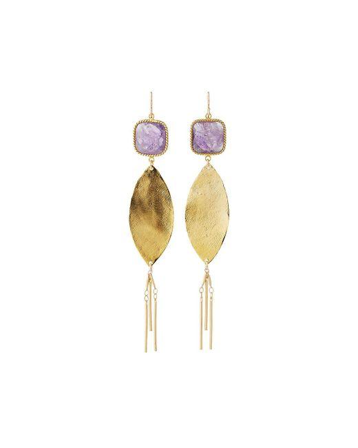 Devon Leigh   Purple Square Crystal Dangle Earrings   Lyst