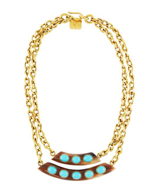 Ashley Pittman   Blue Ukuta Horn & Turquoise Double-strand Statement Necklace   Lyst