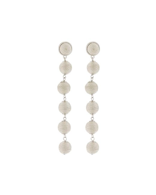 Lydell NYC | Metallic Thread-wrapped Sphere Dangle Earrings | Lyst