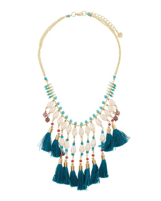 Nakamol - Blue Multi-tassel Pearly Statement Necklace for Men - Lyst