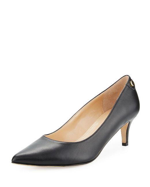 Neiman Marcus - Stroll Leather Slip-on Pumps Black - Lyst