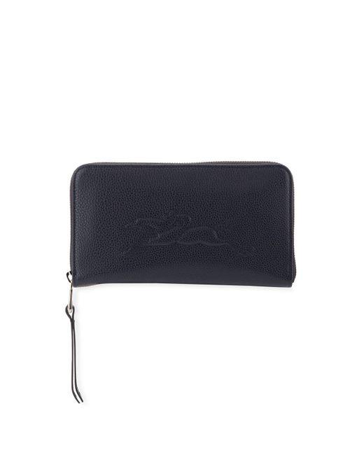 Longchamp - Blue Le Foulonne Leather Zip-around Wallet - Lyst