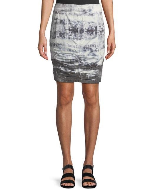 XCVI - Black Tammy Tie-dye Wash Skirt - Lyst