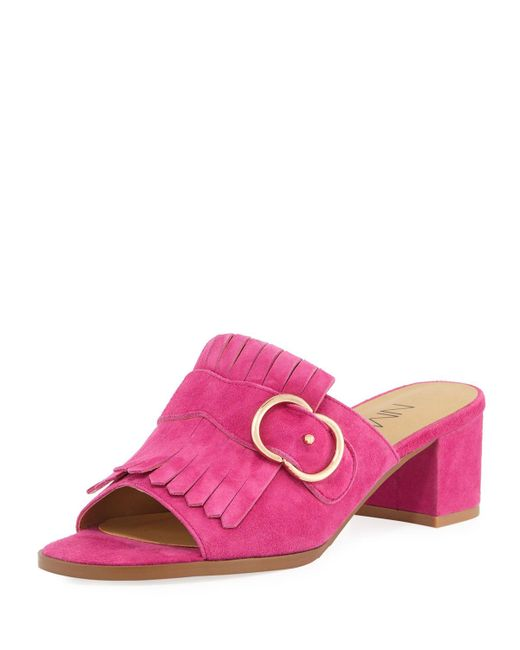 Neiman Marcus - Pink Osya Kiltie Slide Mule - Lyst