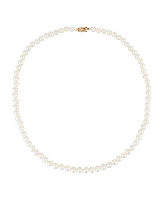 Belpearl   14k White Akoya Pearl Necklace   Lyst