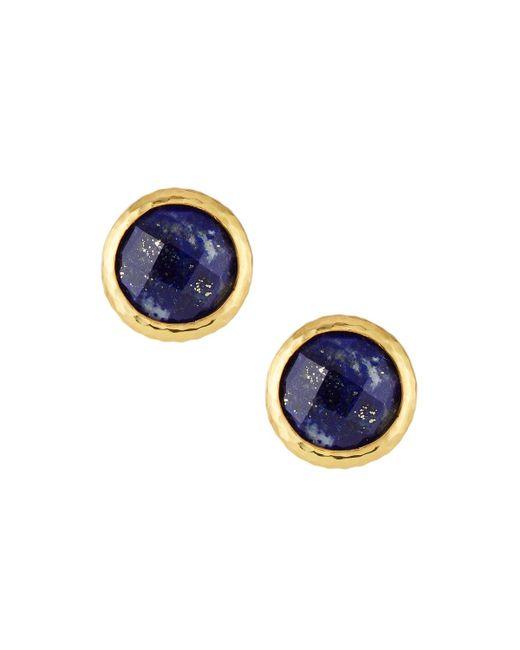 Gurhan | Blue Galapagos Lapis Stud Earrings | Lyst
