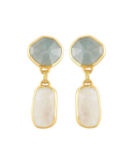 Gurhan | Metallic Elements 24k Mixed Sapphire Double-drop Earrings | Lyst