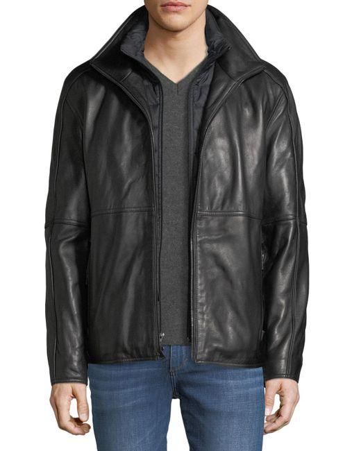 Marc New York | Black Hartz Smooth Leather Jacket for Men | Lyst