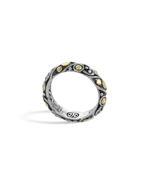 John Hardy - Metallic Dot Twist Band Ring - Lyst