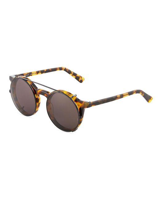 81d38c0405a27 Sunday Somewhere - Black Lorenzo Round Tortoiseshell Acetate Sunglasses -  Lyst