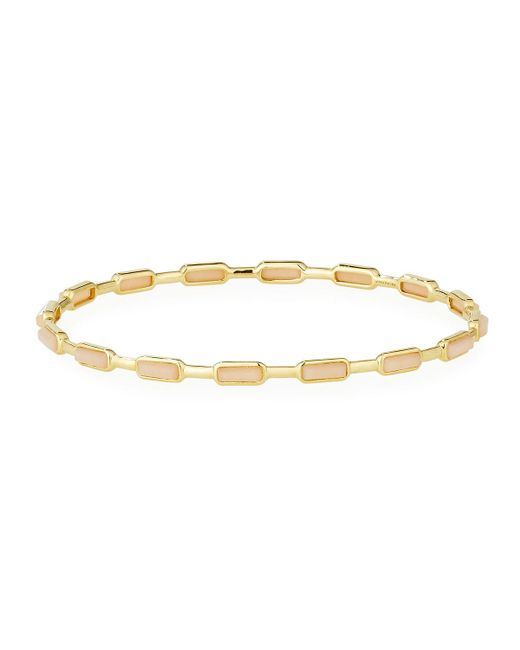 Ippolita | Metallic Rock Candy® Gelato 18k 16-stone Peach Moonstone Bangle | Lyst
