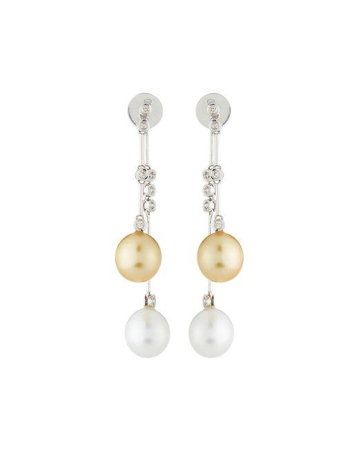 Belpearl - Metallic 14k South Sea Pearl & Diamond Dangle Earrings - Lyst