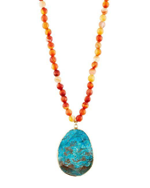 Panacea   Multicolor Long Beaded Agate & Jasper Pendant Necklace   Lyst