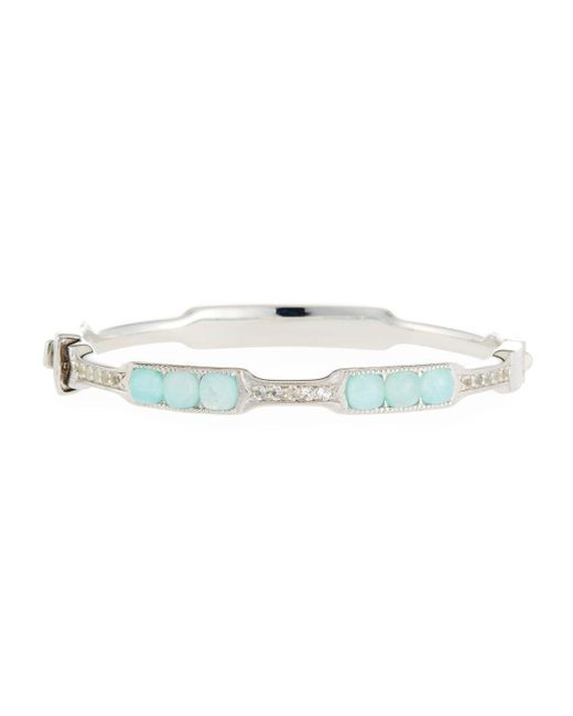 Jude Frances - Multicolor Moroccan Cushion Bangle Bracelet In Amazonite/moonstone Doublet - Lyst