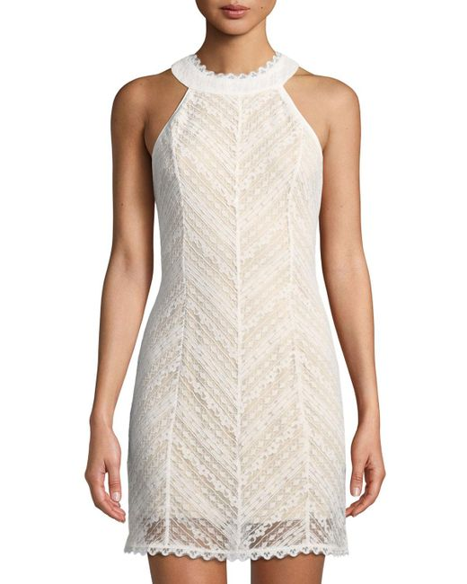 Lost + Wander - White Champagne Lace Halter Dress - Lyst