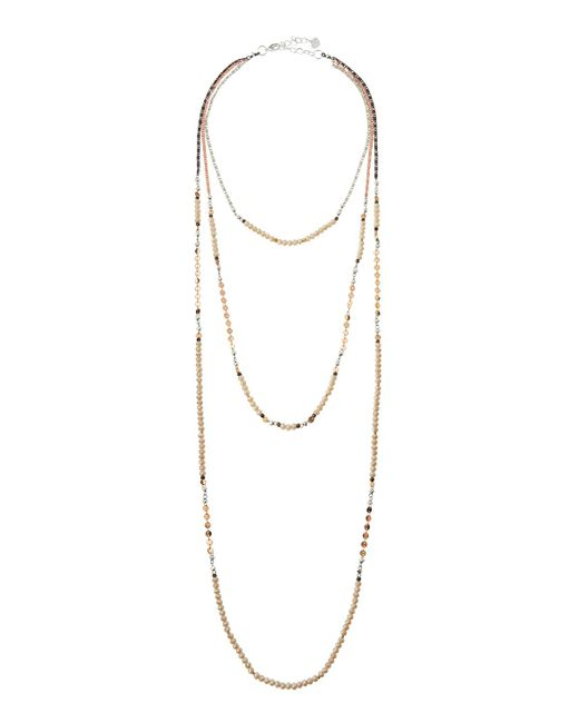 Nakamol - Natural Long Triple-strand Beaded Necklace - Lyst
