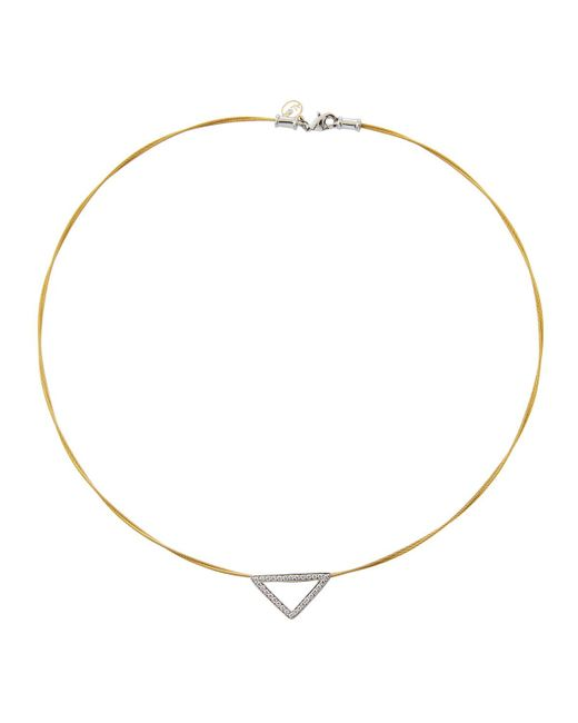 Alor - Metallic Triangular Diamond Pendant Necklace Yellow - Lyst