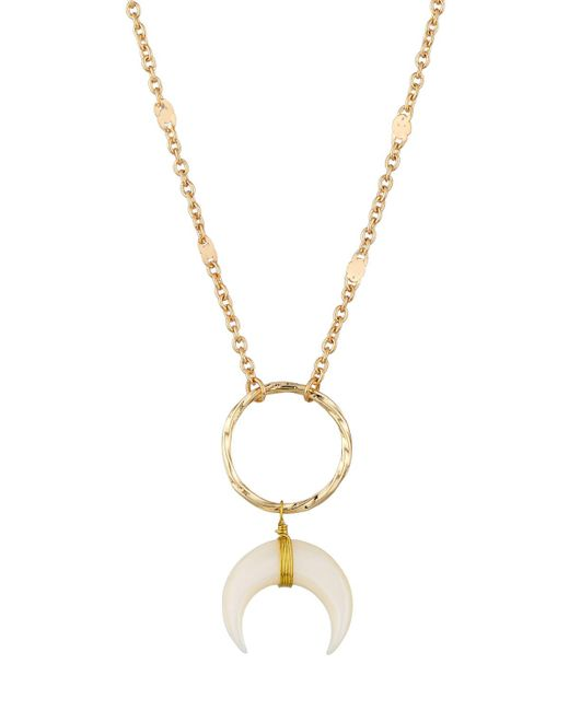 Panacea   White Wire-wrapped Horn Pendant Necklace   Lyst