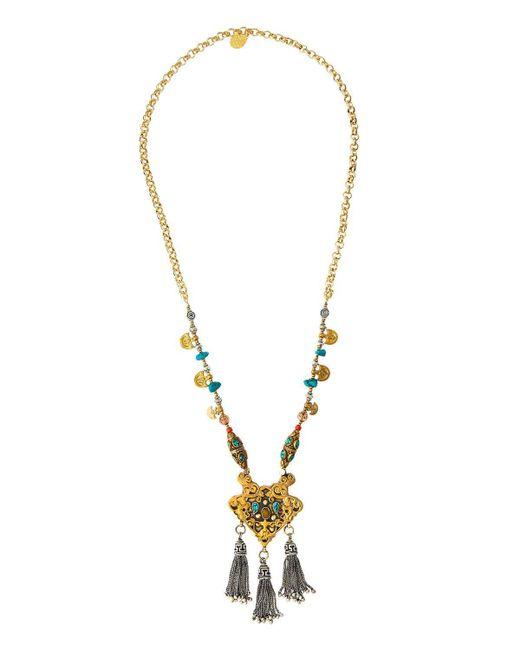 Devon Leigh | Multicolor Long Beaded Tasseled Pendant Necklace | Lyst