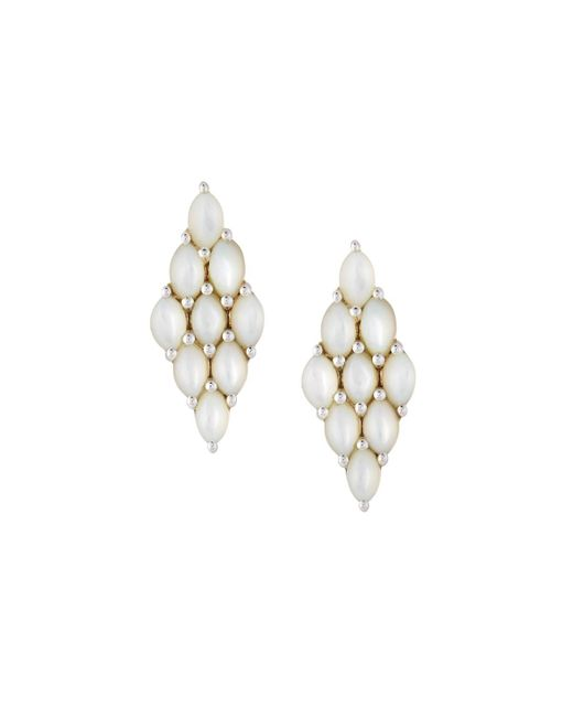 Elizabeth Showers - Multicolor Honeycomb Post Earrings - Lyst