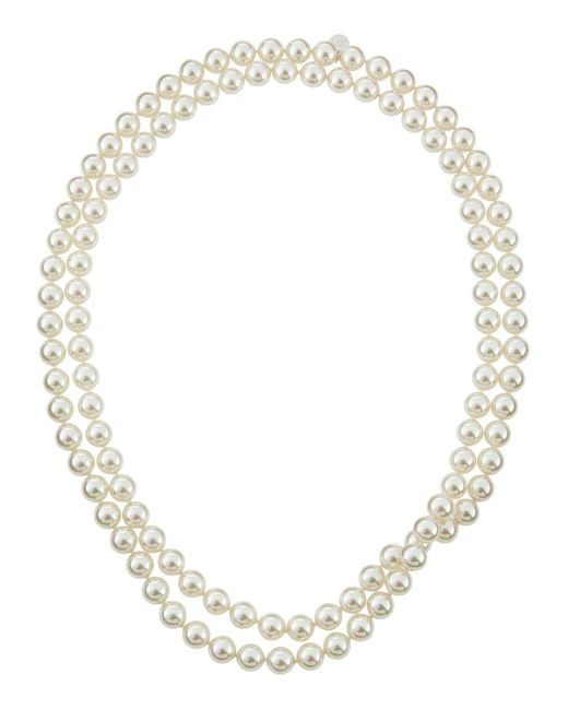 Majorica | White Single-row Endless Pearl Necklace | Lyst