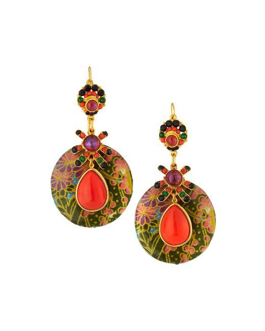 Jose & Maria Barrera - Multicolor Decoupage Wood Drop Earrings - Lyst
