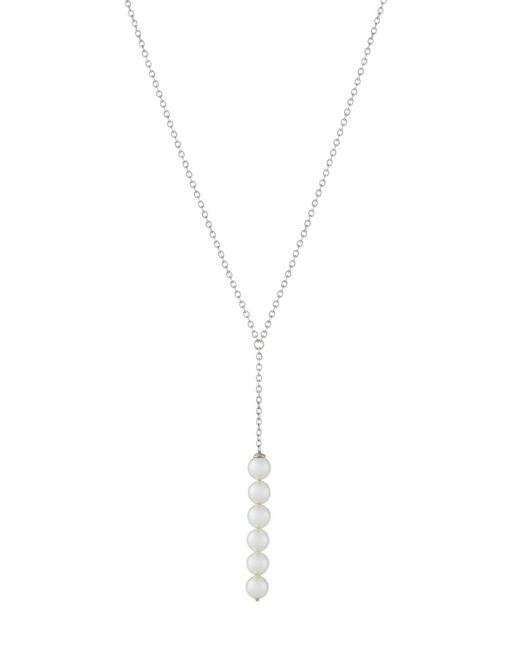 Majorica - White Silvertone Y-drop Six-pearl Pendant Necklace - Lyst