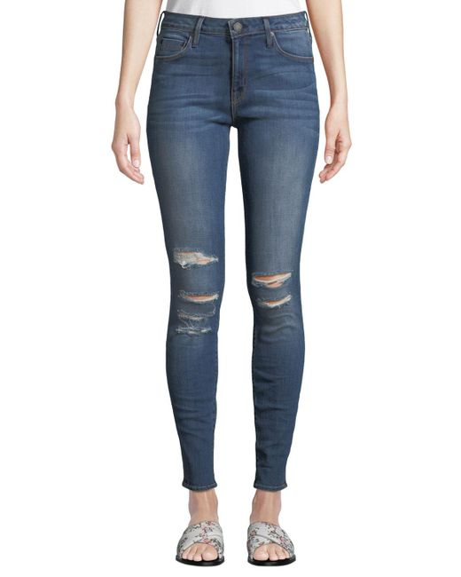 Parker Smith - Blue Kam Mid-rise Skinny Jeans - Lyst
