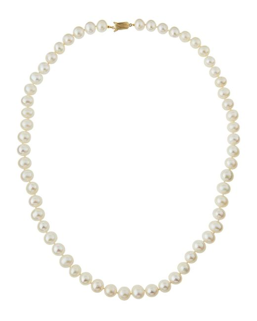 Belpearl | 14k White Freshwater Pearl Necklace | Lyst