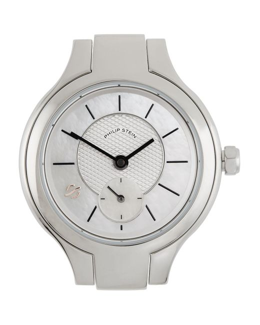 Philip Stein - Metallic Stainless Steel Small Round Watch Head for Men - Lyst