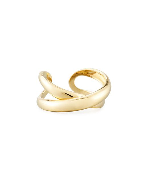 Roberto Coin - Metallic 18k Crossover X Ring Size 7 - Lyst