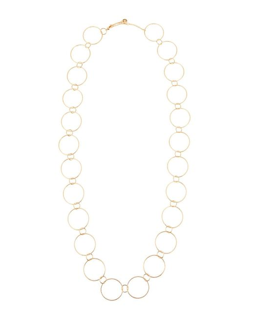 Lydell NYC - Metallic Long Single-strand Circle-link Necklace - Lyst