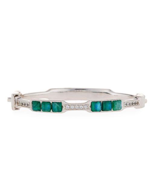 Jude Frances - Green Moroccan Cushion Doublet Bangle Malachite/moonstone - Lyst