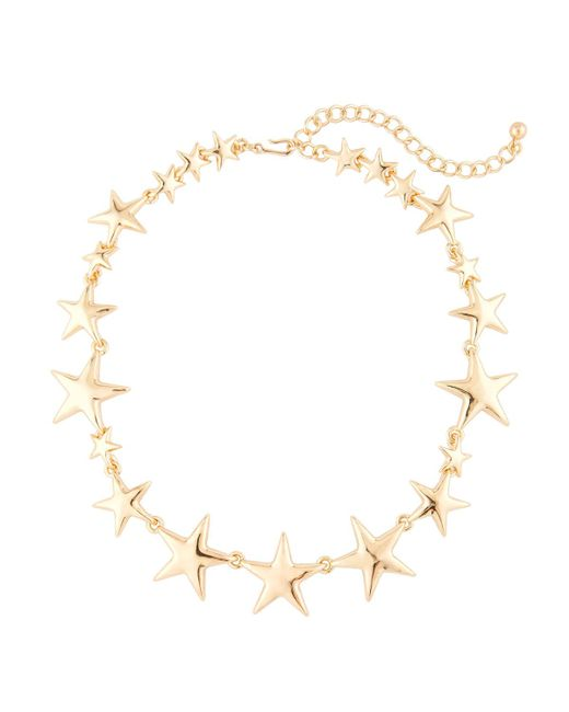 Kenneth Jay Lane | Metallic Polished Golden Star Station Necklace | Lyst