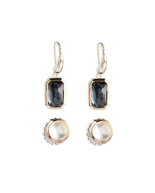 Ippolita   Metallic Rock Candy Pyrite Stud & Dangle Earring Set   Lyst