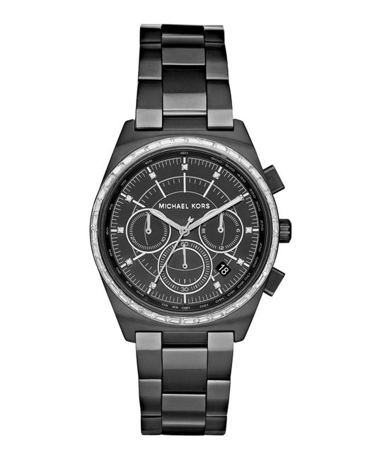 MICHAEL Michael Kors | Black 38mm Vail Chronograph Watch for Men | Lyst