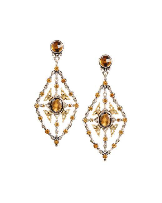 Konstantino | Metallic Thalassa Quartz Kite Chandelier Earrings | Lyst