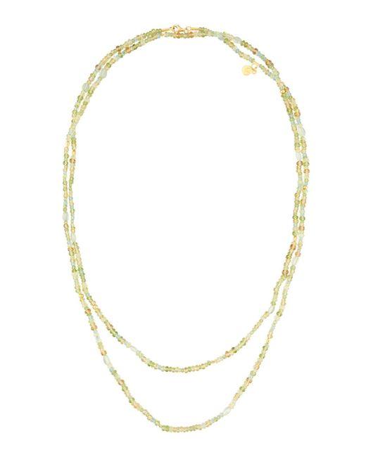 Gurhan   Metallic Long Multi-gemstone Beaded Necklace   Lyst