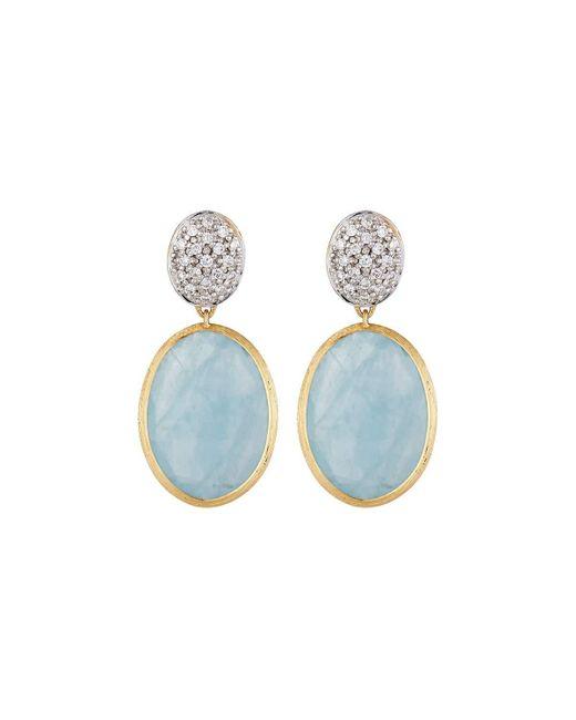 Marco Bicego | Blue Siviglia Aquamarine 18k Diamond Drop Earrings | Lyst