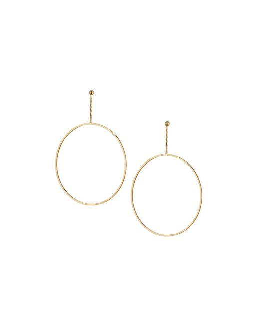 Kenneth Jay Lane - Metallic Open Circle Drop Earrings - Lyst