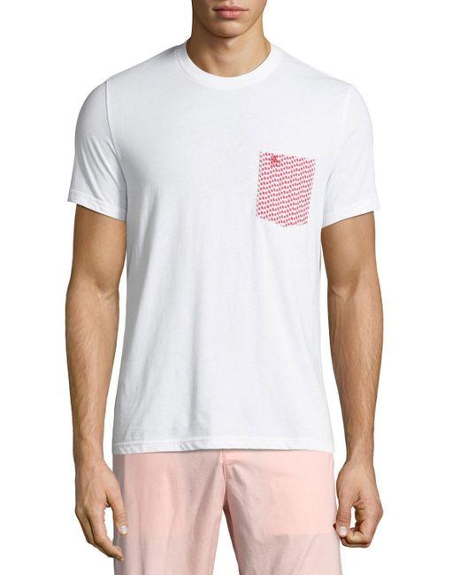 Original Penguin - White Men's Pepper-print Pocket T-shirt for Men - Lyst