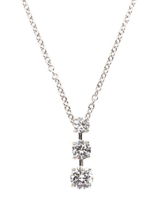 Fantasia by Deserio | Metallic Triple-stone Cz Pendant Necklace | Lyst