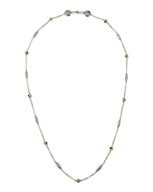 Konstantino | Purple Color Classics Long Amethyst Station Necklace | Lyst