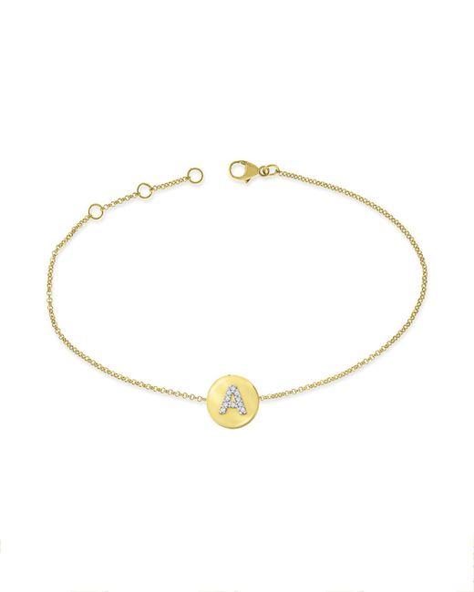 KC Designs - Metallic 14k Yellow Gold Diamond Disc Initial Bracelet - Lyst