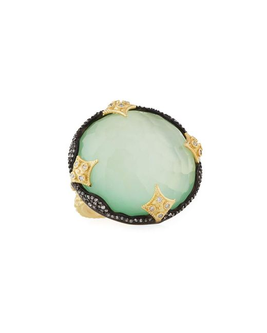 Armenta | Green Old World 18k Chrysoprase Doublet Ring W/ Diamonds | Lyst