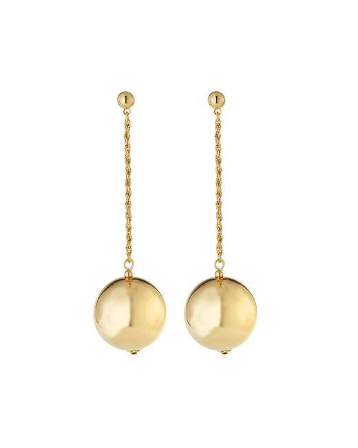 Kenneth Jay Lane | Metallic Polished Chain W/ Ball Dangle Earrings | Lyst